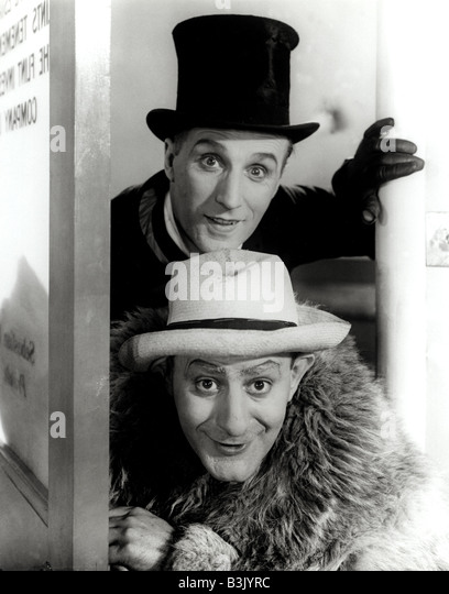 FLANAGAN AND ALLEN - Bud Flanagan at bottom and Chesney Allen were popular music hall entertainers in 1940s Britian - Stock Image