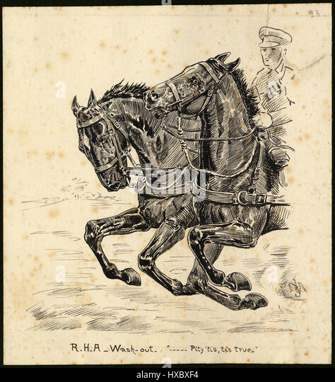 R.H.A. Wash-out. '...Pity 'tis, tis true'  - Sketch from anonymous british soldier ( knowed as ' - Stock Image