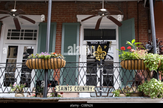stock photo tourists meet locals french quarter orleans