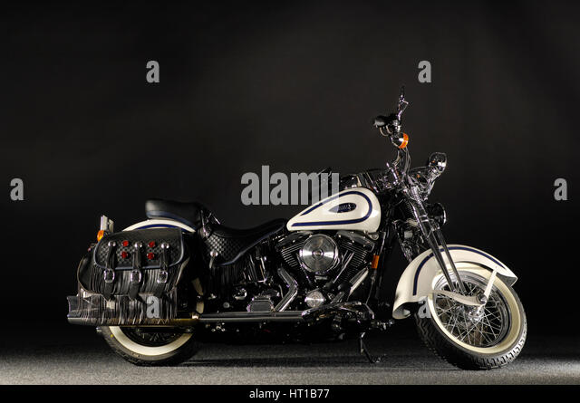 Harley Davidson soft tail springer 2005. Artist: Simon Clay. - Stock Image