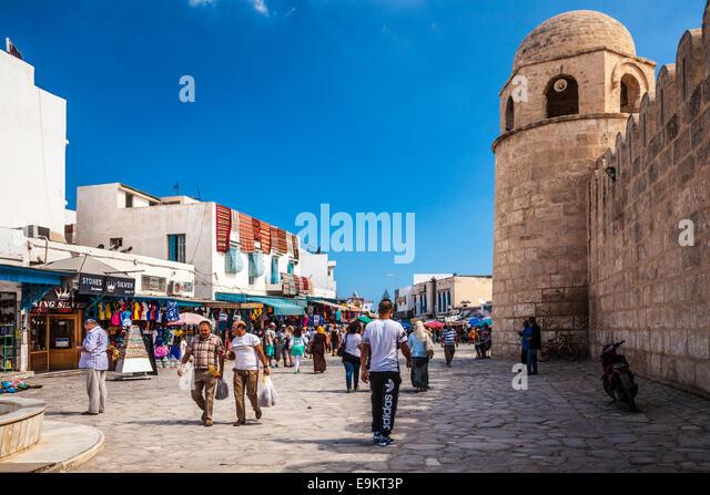 The Place de la Grande Mosque in Sousse,Tunisia. - Stock Image
