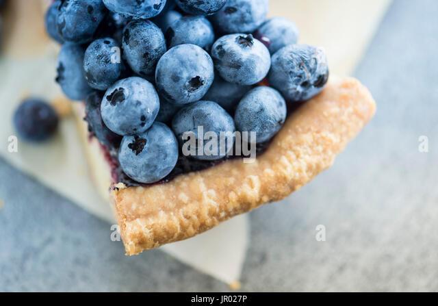 blue berries pie - Stock Image