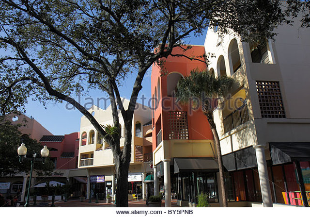 Miami Florida Miami Lakes Main Street shopping - Stock Image