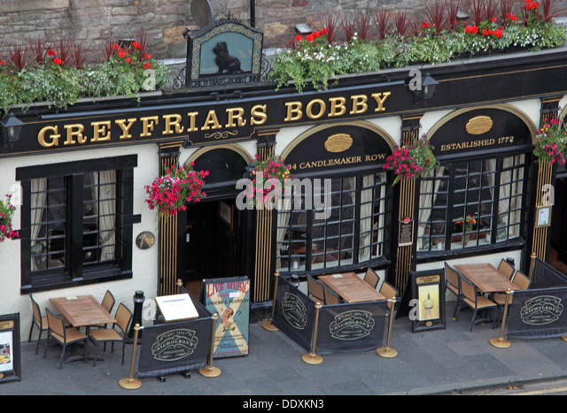 Greyfriars Pub from above, Edinburgh Capital City, Scotland UK - Stock Image