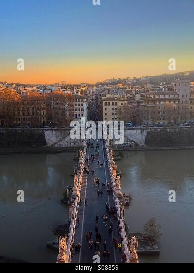 Pont Sant'Angelo, Rome - Stock Image