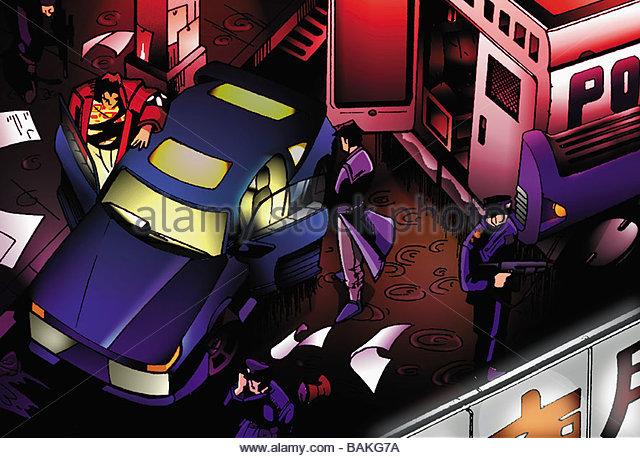 Police at a Crime Scene - Stock-Bilder