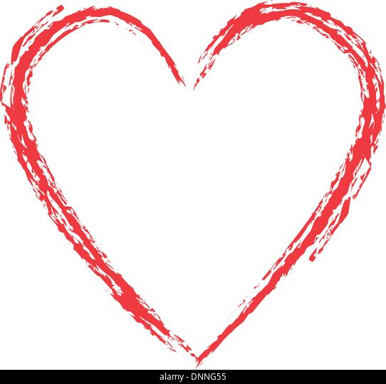 Grunge style heart - Stock Image