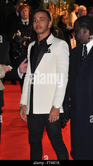 London, UK. Lewis Hamilton at the British Fashion Awards 2015, London Coliseum, St Martin's Lane, London, England, - Stock Image