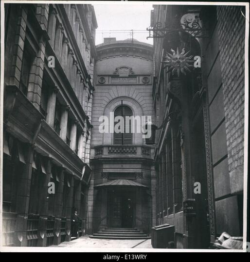 Mar. 27, 2012 - Illustrated. Stock Exchange: Photo shows Tucked away at the end of Capel Court across the road from - Stock Image