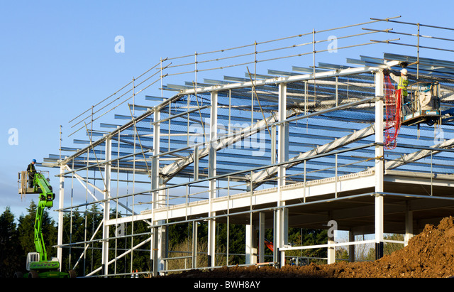 Girder girders industrial stock photos girder girders for Building under construction insurance