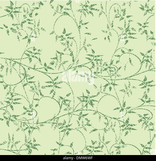 green leaves decorative background - Stock Image