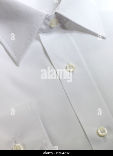 close up of mens shirt - Stock Image