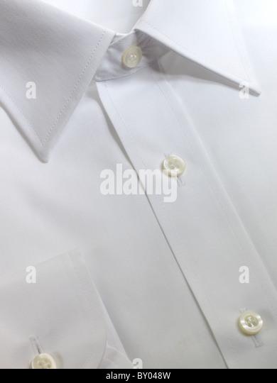 close up of mens shirt - Stock Image