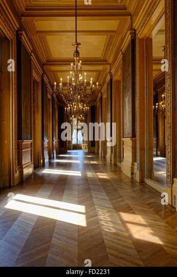 Opera Garnier, Corridor, Paris, France - Stock Image
