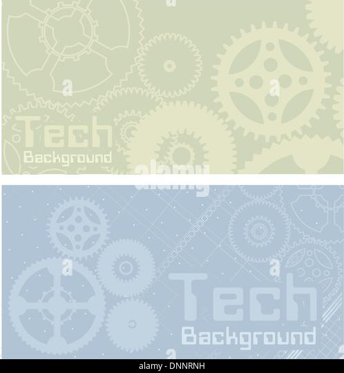Vector backgrounds, technology, machine, industry - Stock-Bilder