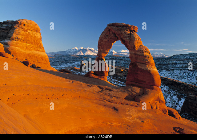 Delicate Arch, Arches NP, Utah, USA - Stock Image