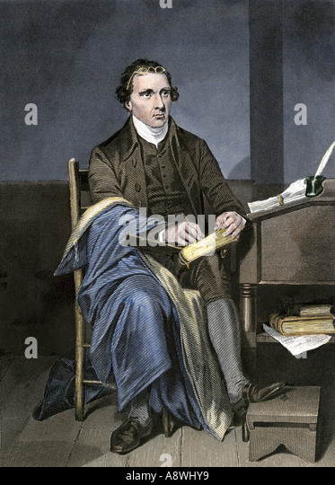 Patrick Henry writing - Stock Image