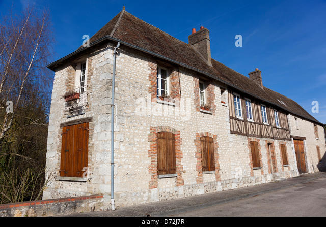 Architecture of Les Andelys, Haute Normandie, France - Stock Image