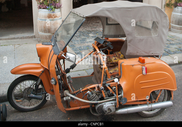 vintage three wheel motorcycle