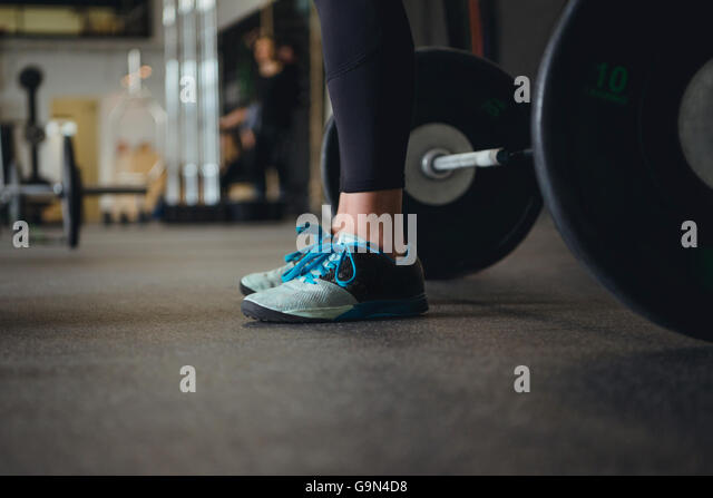 Women and weightlifting. Sports and fitness. - Stock Image