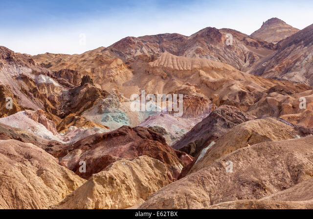 Colourful rocks known as the Artist's Palette, Death Valley, California. - Stock Image