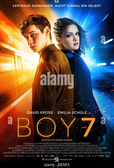 DAVID KROSS & EMILIA SCHULE POSTER BOY 7 (2015) - Stock Image