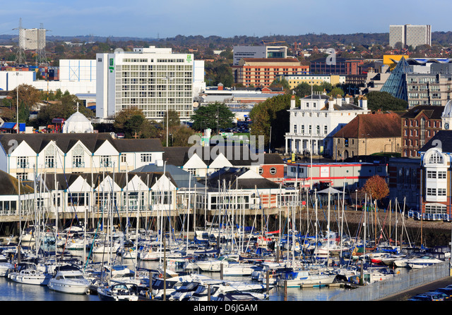 Town Quay and yacht marina, Southampton, Hampshire, England, United Kingdom, Europe - Stock-Bilder
