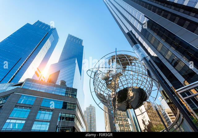 Columbus Circle, Time Warner Center, New York City - Stock Image