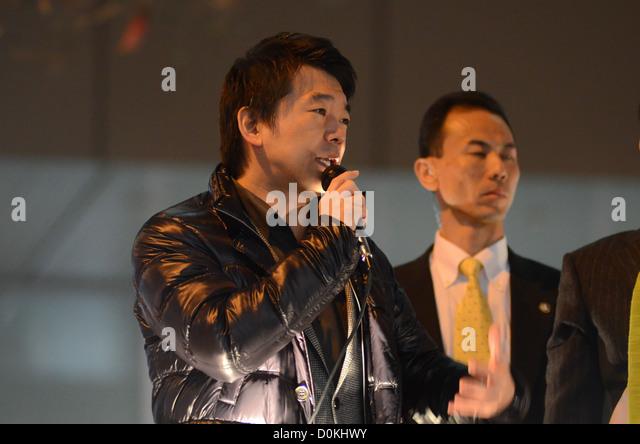 Toru Hashimoto, former mayor of Osaka and deputy leader of Japanese political party 'Nippon Ishin no Kai' (Japan - Stock Image
