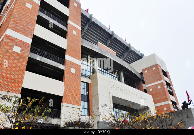 Bryant Denny Stadium at Tuscaloosa, Alabama. - Stock Image