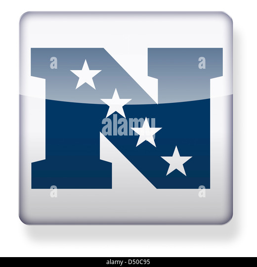 NFC logo as an app icon. Clipping path included. - Stock Image