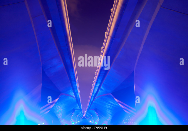 Underside of bridge, Singapore - Stock-Bilder