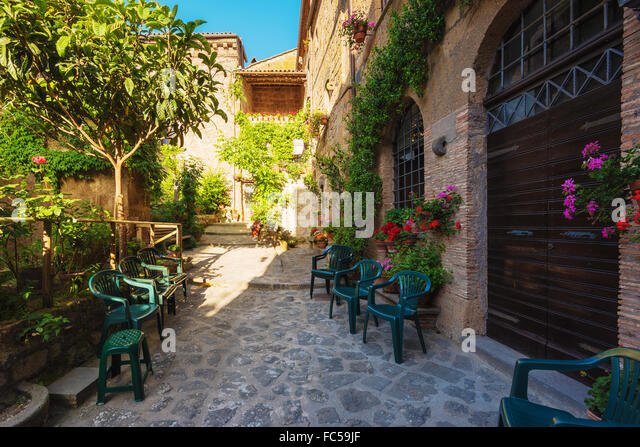 Italian corners of in the Tuscan towns - Stock Image