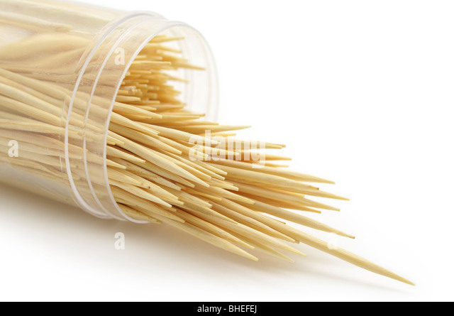 Wooden Toothpicks - Stock Image