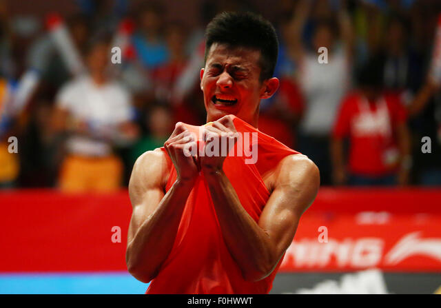 Istora Senayan Arena, Jakarta, Indonesia. 16th Aug, 2015. Chen Long (CHN), AUGUST 16, 2015 - Badminton : TOTAL BWF - Stock-Bilder