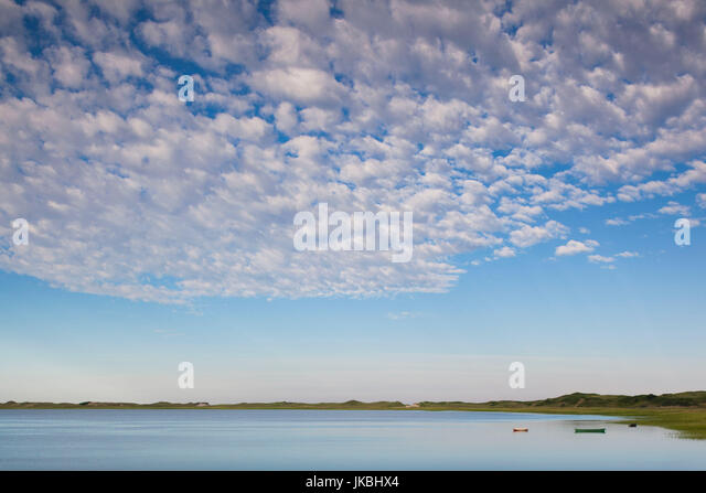 USA, Massachusetts, Cape Cod, Wellfleet, view of The Gut by Great Island, morning - Stock Image