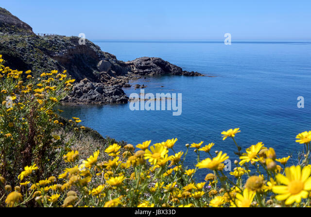 Scenic view on the northwest coast of the island of Sardinia, Italy. - Stock Image