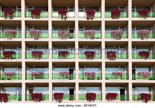 The Aranyhomok Hotel ( Socialist architecture) , Kecskem t , Hungary  - Stock Image