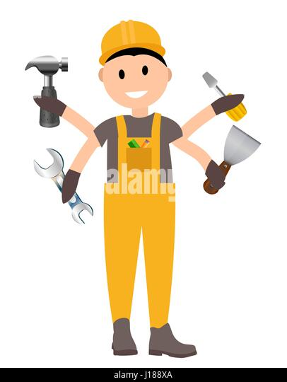 Cartoon Builder Worker Man Stock Photos & Cartoon Builder ...