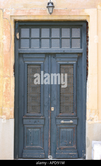 Antique door - Stock Image