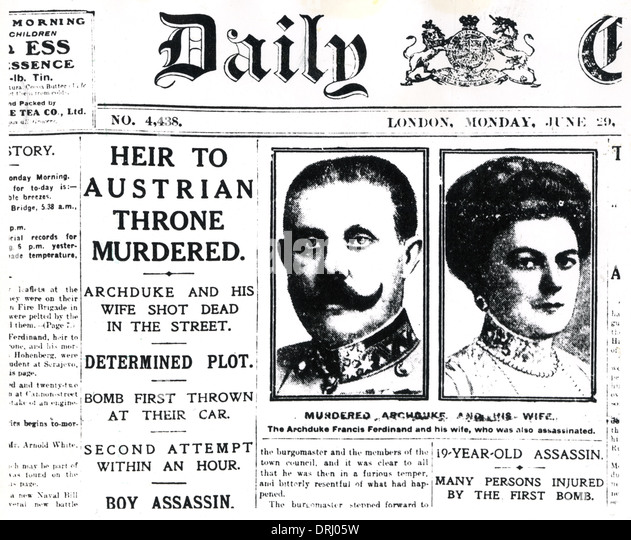 Daily Chronicle, Archduke Franz Ferdinand and his wife - Stock Image
