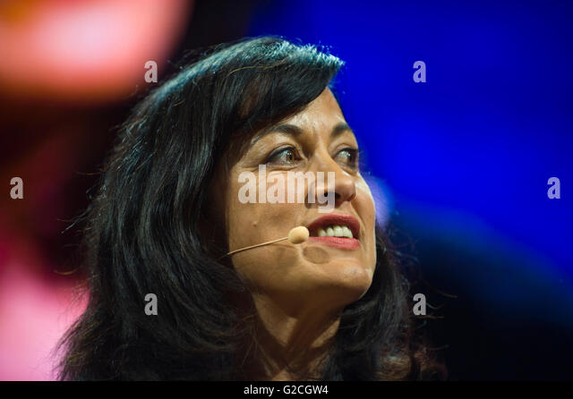 Author Polly Samson talking about her life & work on stage at Hay Festival 2016 - Stock Image