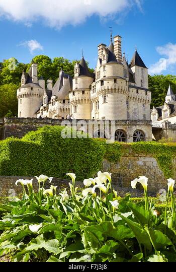 Usse Castle, Usse, Loire Valley, France - Stock Image