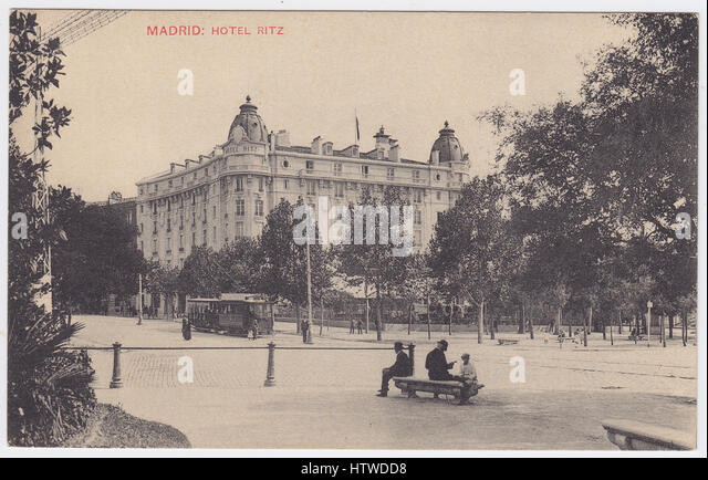 Hotel Ritz, Madrid, Spain - Stock Image