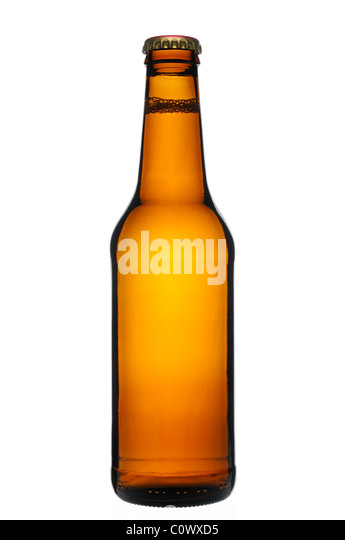 Beer Bottle, Cut Out. - Stock Image