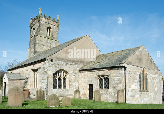 Church of St John the Baptist, Wilberfoss, East Riding of Yorkshire, East Yorkshire.Listed building with IoE Number: - Stock Image