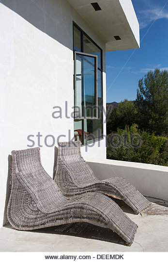 Exterior of modern house - Stock Image