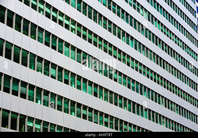 Low angle view of high rise - Stock Image
