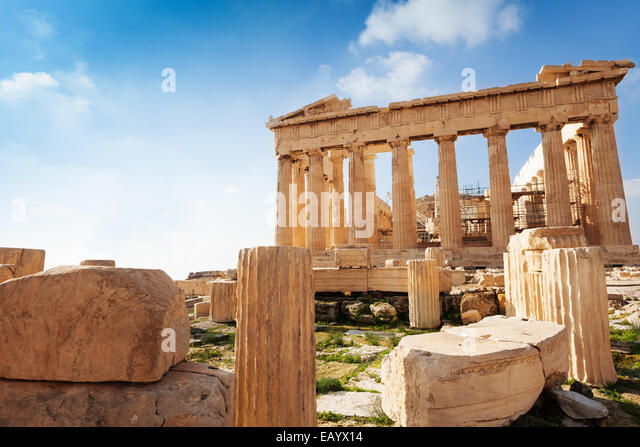 Acropolis of Athens in Greece during summer - Stock-Bilder