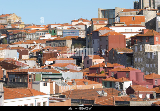 roof tops porto portugal - Stock Image